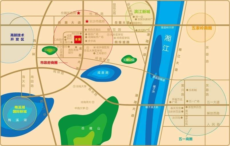 河西王府井商业广场位置图