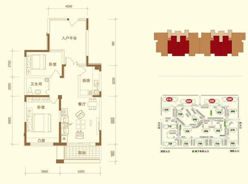 58-61#楼标准层2A-B-01户型