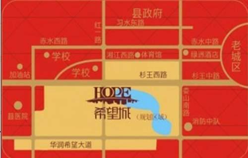 希望国际城位置图