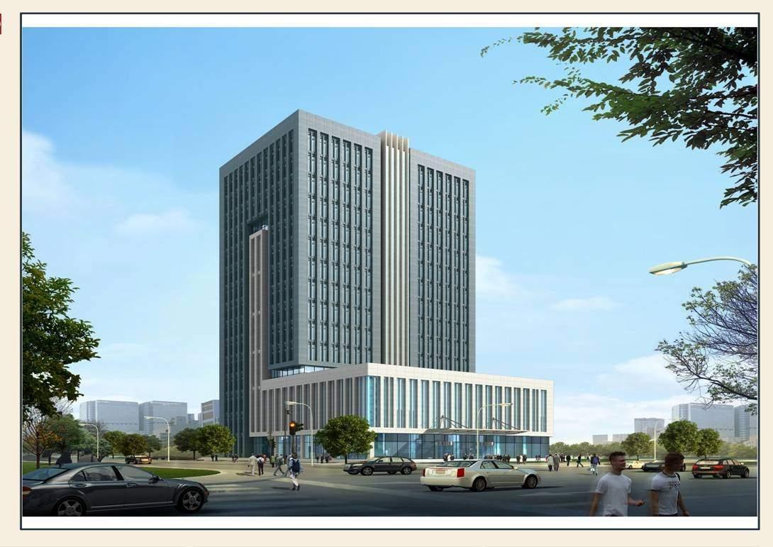 内蒙古低碳经济总部大厦效果图