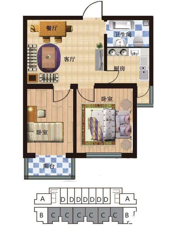一期2#楼5-28层C户型