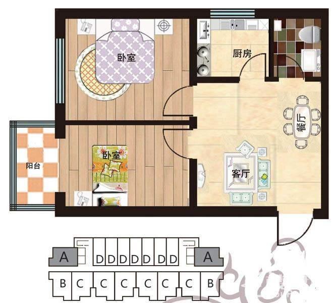 一期2#5-28层楼A户型
