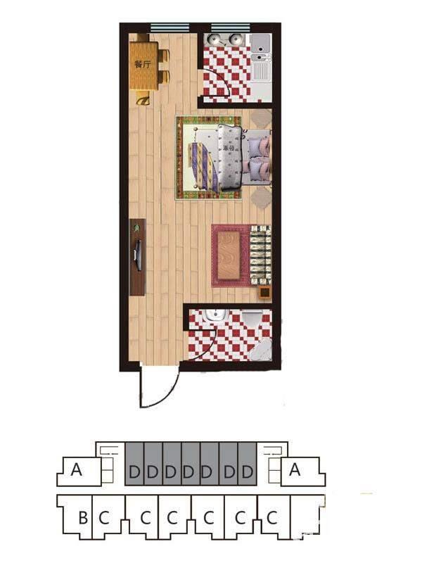 一期2#楼5-28层D户型