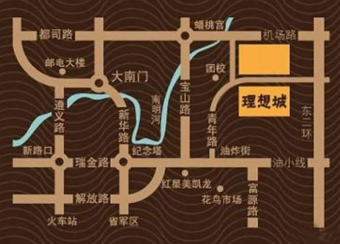 理想城位置图