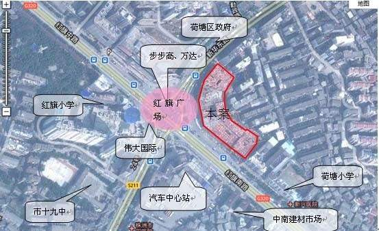 银泰财富广场位置图