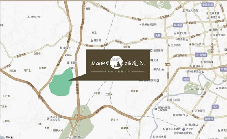 枫丹白鹭·栖凤谷位置图