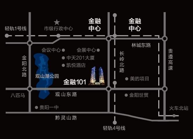 贵阳国际金融中心写字楼位置图