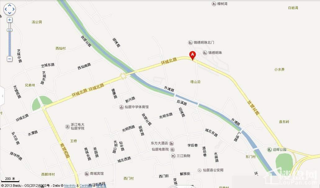 中仁翡翠华府位置图