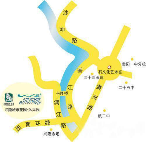 兴隆城市花园·沐风园位置图