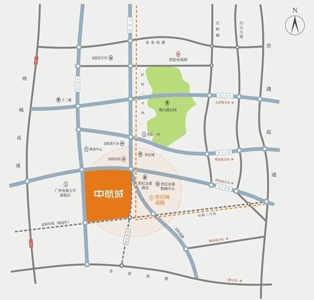 中航城位置图