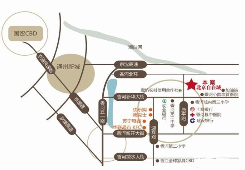 北京自在城位置图