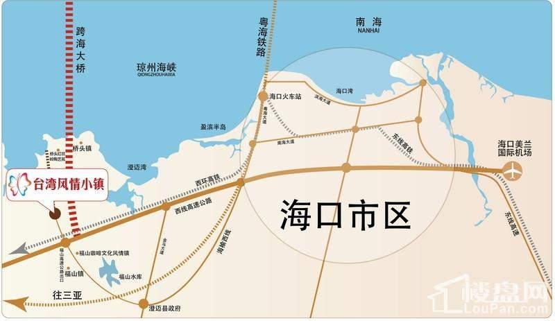台湾风情小镇位置图