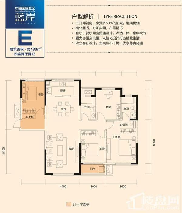 中海国际社区E户型