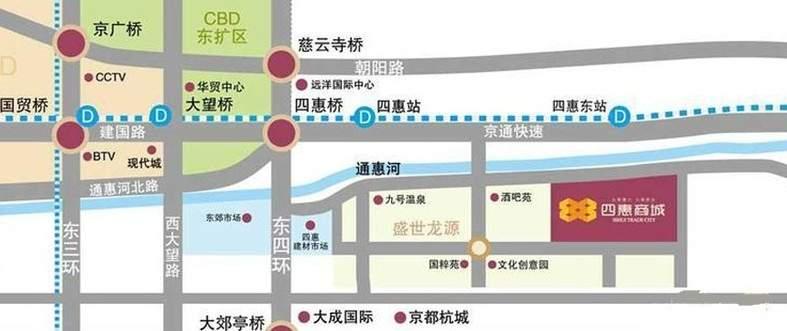 四惠商城位置图