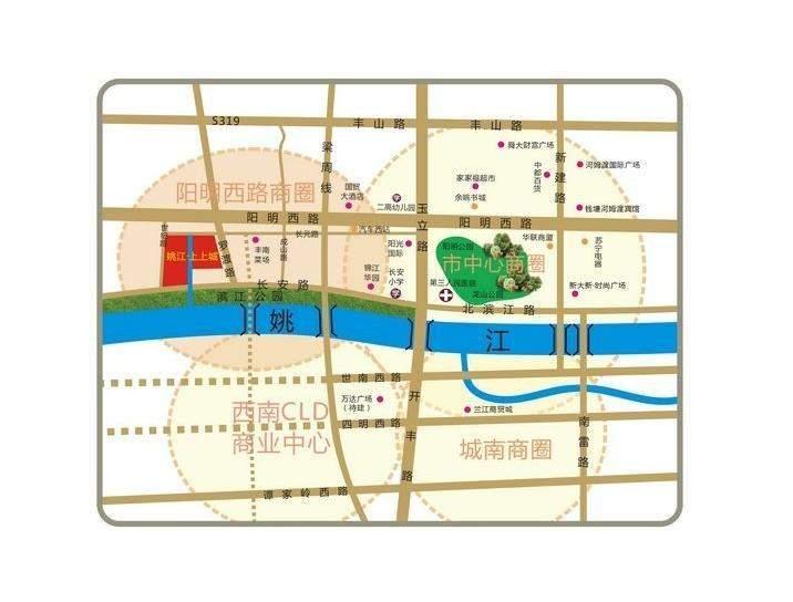 姚江上上城位置图