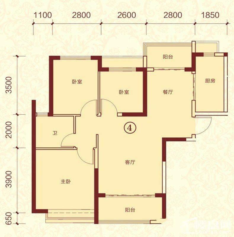 15号楼1单元 4号户型
