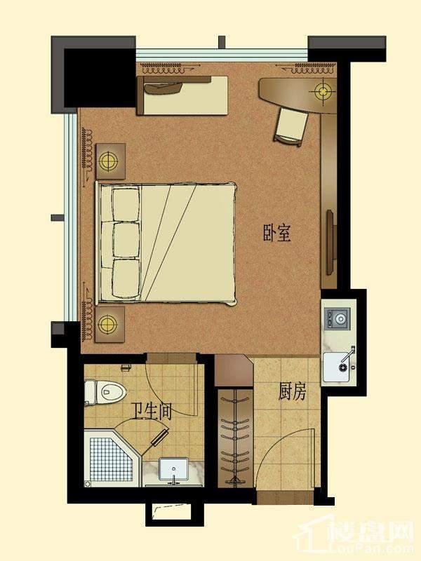 高层公寓1#楼5-11层西北边套总裁行宫D户型