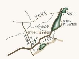 保利十二橡树庄园别墅位置图