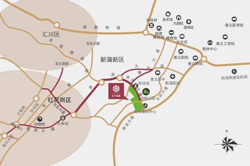 中建·幸福城位置图