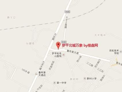 罗平北城万象位置图