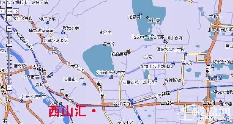 、西山风景区地图