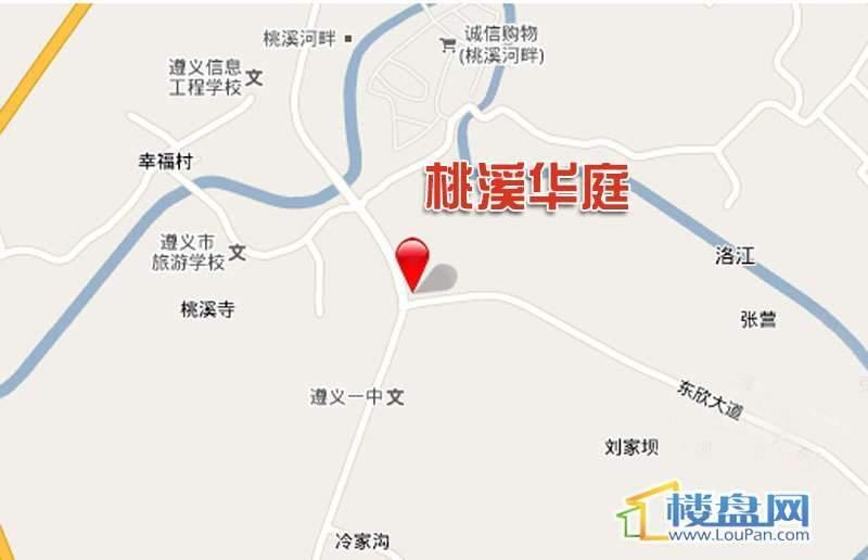 桃溪华庭 位置图