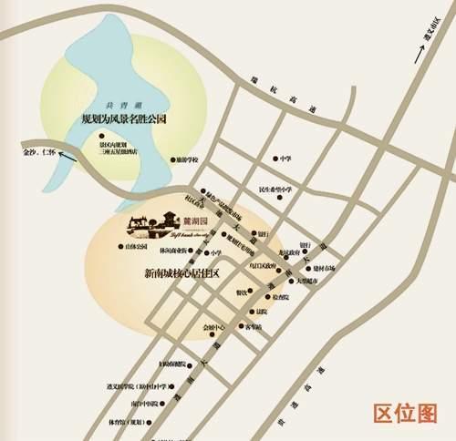 麓湖园位置图