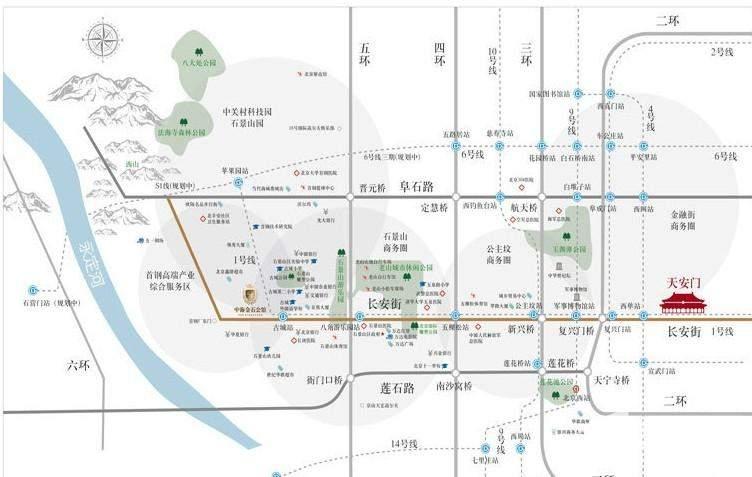中海金石公馆位置图