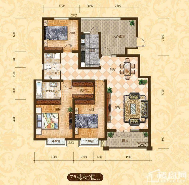 7#楼标准层C1户型