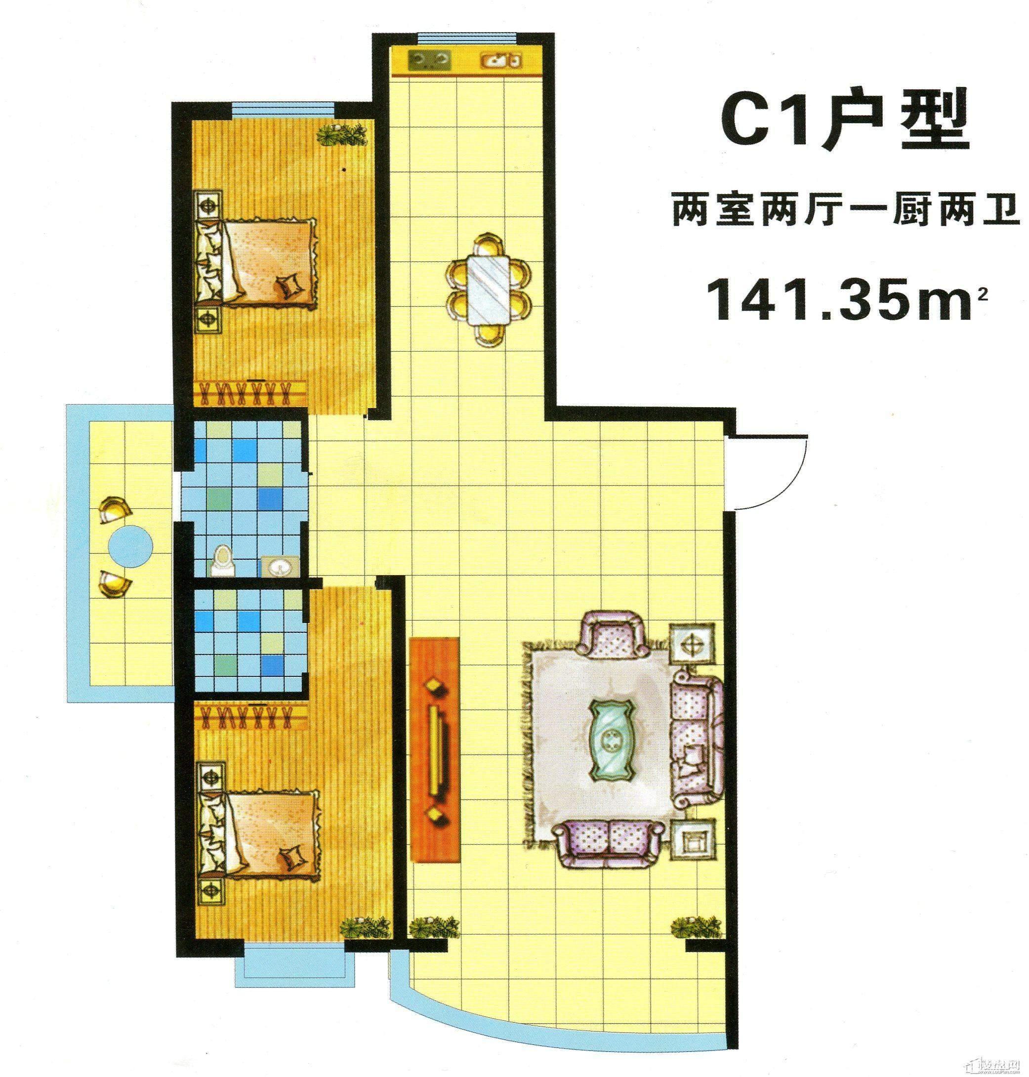To 36M 1 141 厅 1 卫 面积 125 53m 2 户型 2 室 2 厅 1 卫  #B68F15 2083x2180