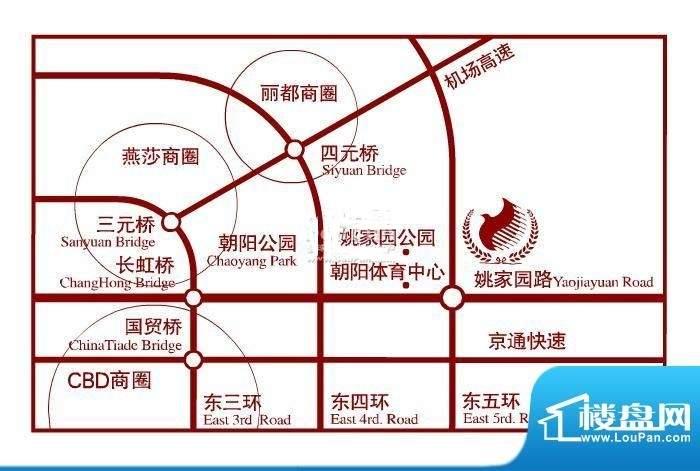 北京奥林匹克花园位置图