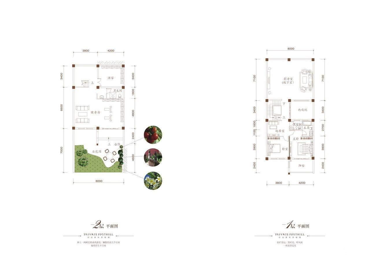 B户型1层及2层