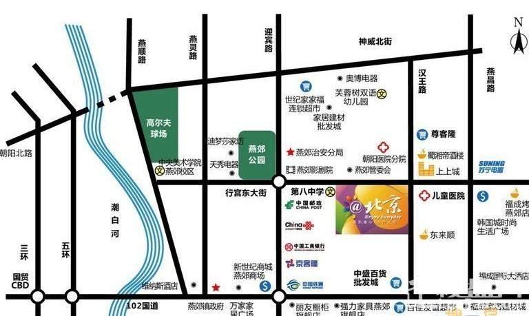 @北京位置图