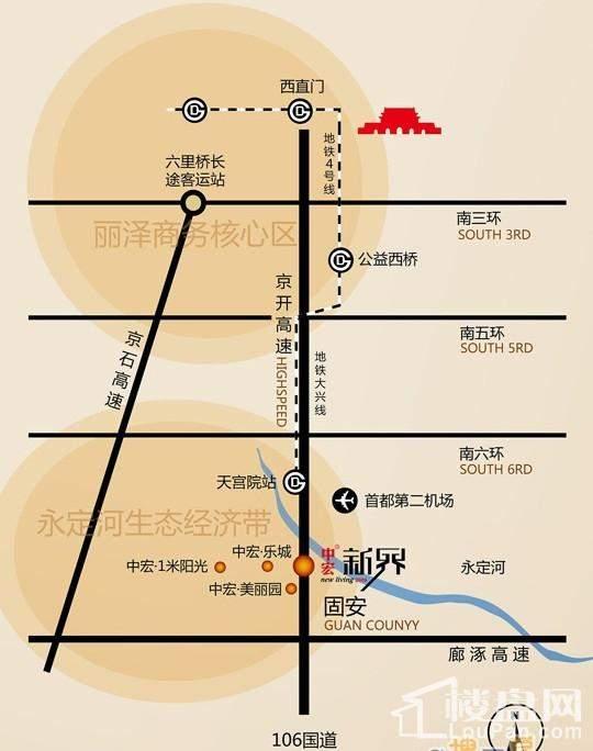 中宏美丽园二期位置图