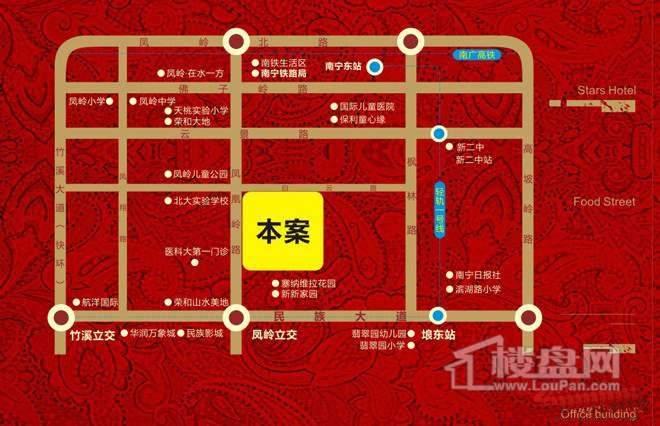 凤岭中央广场位置图