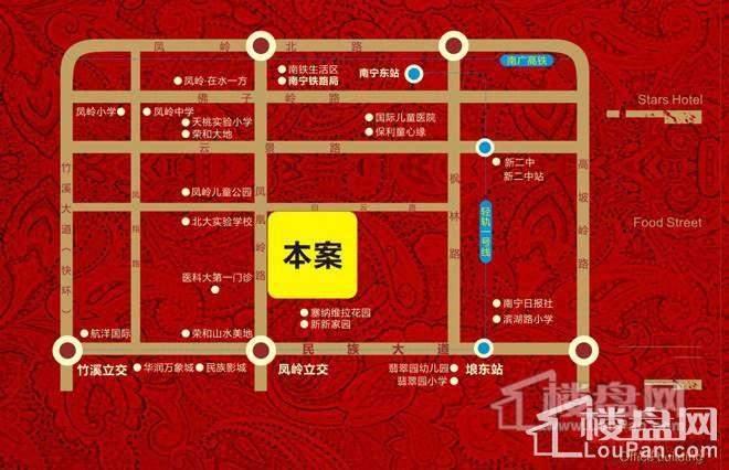 凤岭 中央广场位置图