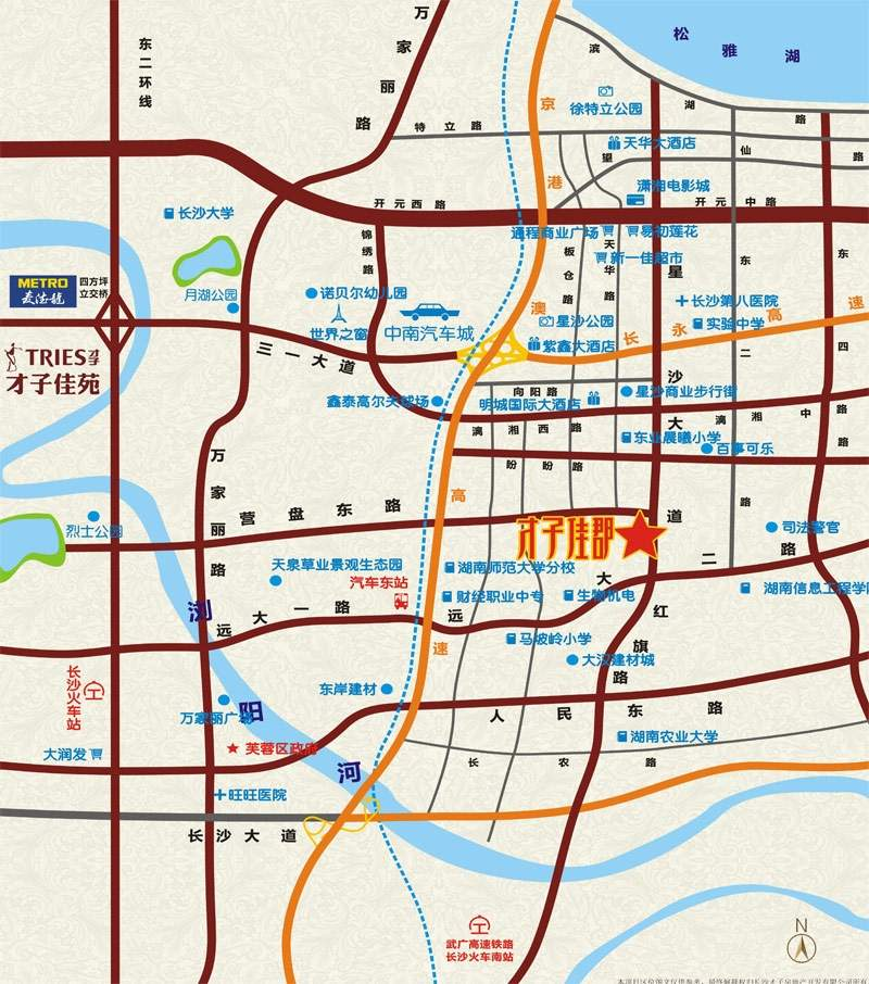 才子佳郡位置图