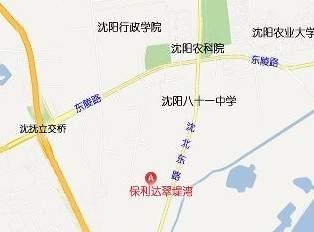 保利达翠堤湾位置图