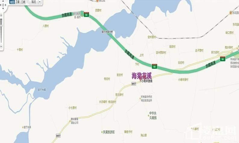 海棠花溪生态养老宜居小镇位置图