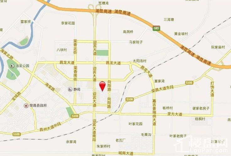 荣昌金科世界城位置图