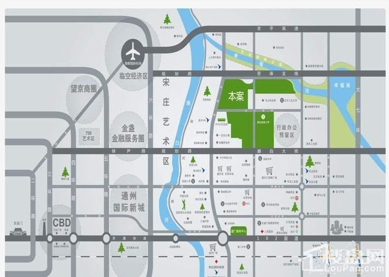 燕达首尔·国际村位置图