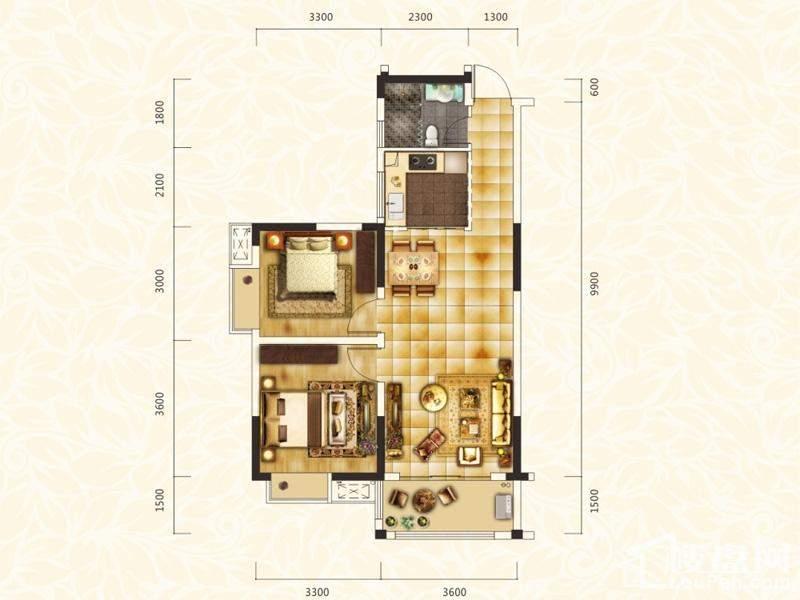 丽发新城1-A、1-B、1-C、11、19栋格调户型