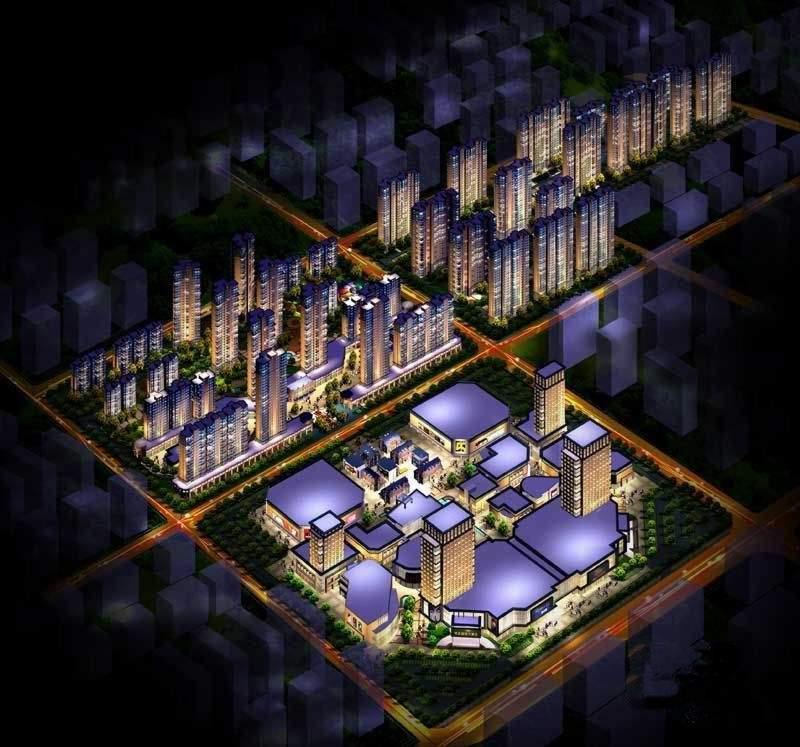 明发商业广场效果图