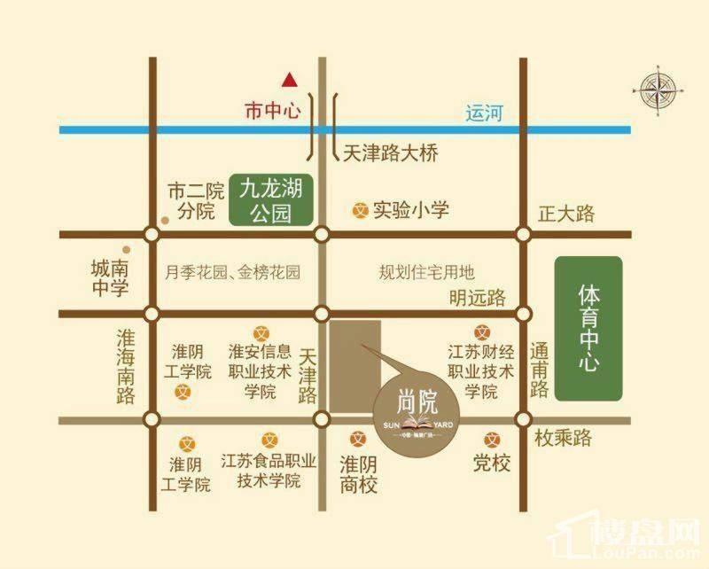 中茵翰城广场位置图