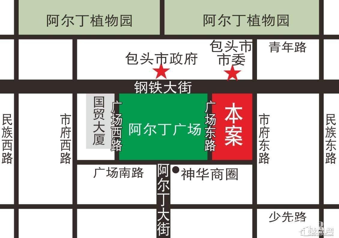 国际金融文化中心商铺(蓝·港)位置图