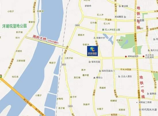 华菱嘉园位置图