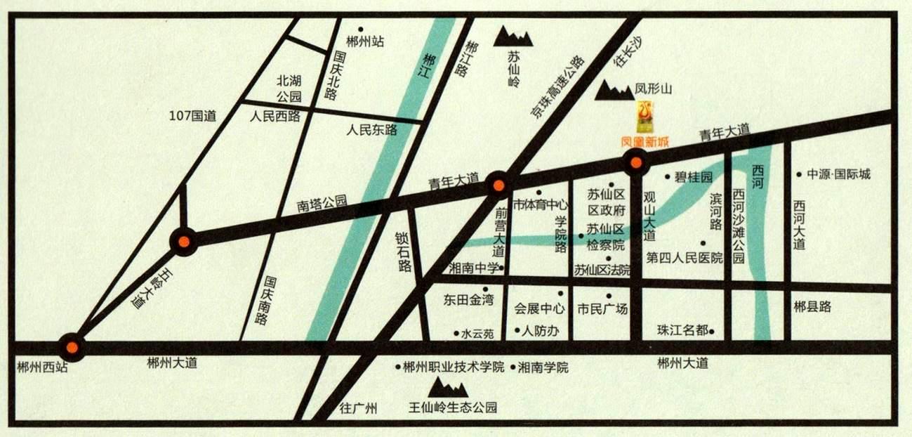 凤凰新城位置图