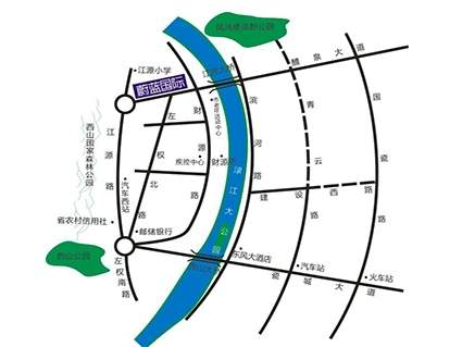 蔚蓝国际位置图