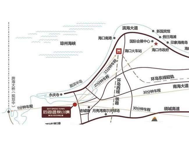 后海温泉小镇位置图