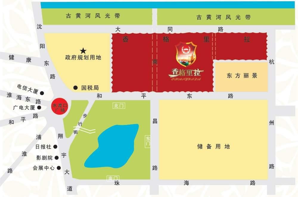 香格里拉花园位置图